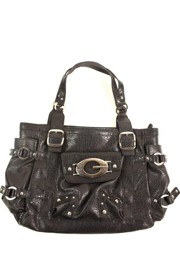 GUESS big black leather handbag  86ef71b7b0559