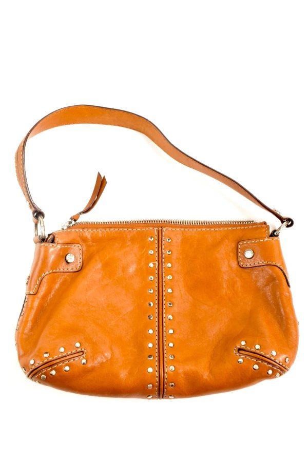 Michael Kors Camel Tone Leather Studded Handbag