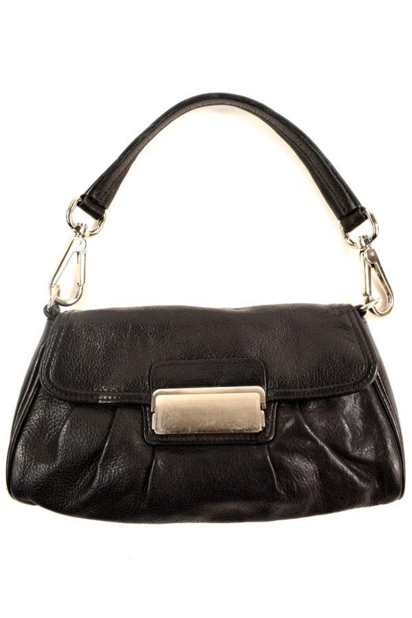Black Soft Leather Small Handbag