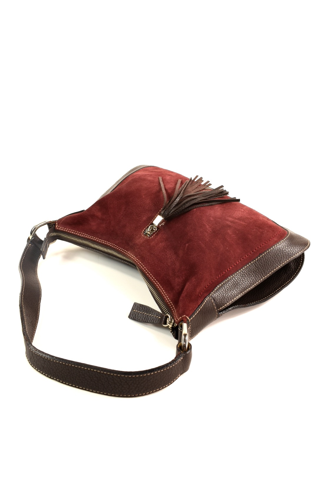 CATS brown leather and suede hobo handbag  ec565e62c1b42