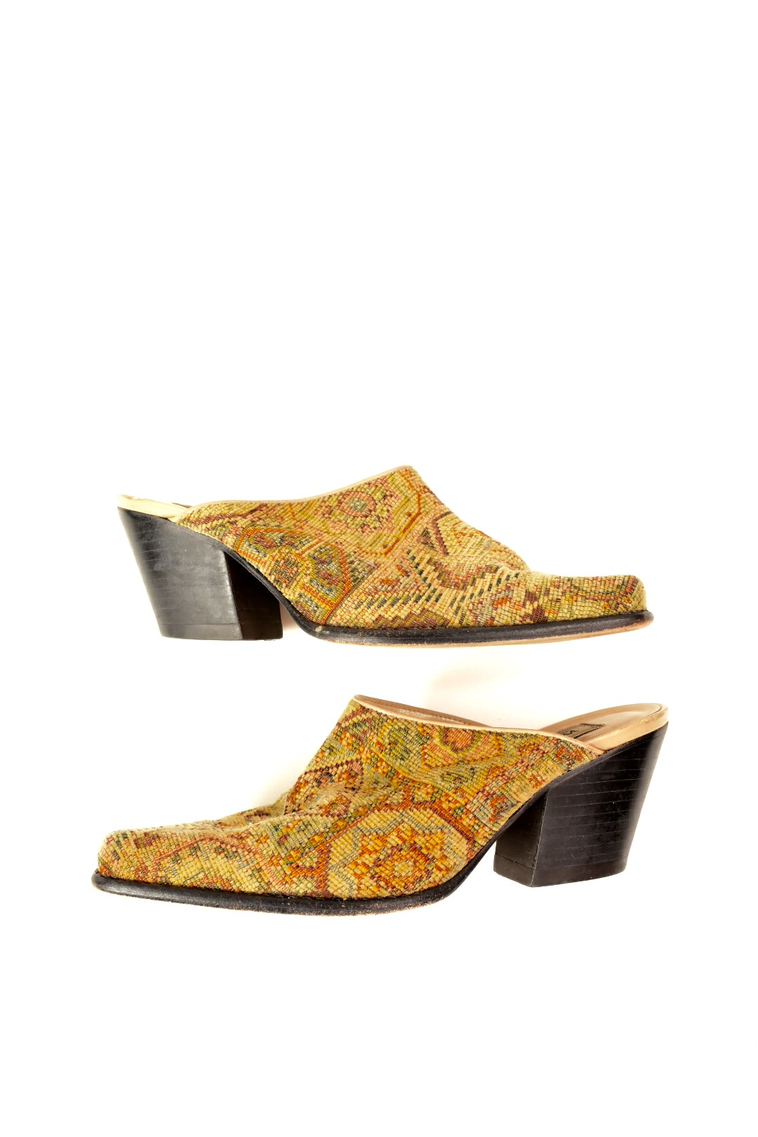 Ladies Girls Slippers Mule Pink Paisley Sizes 3-8 Available