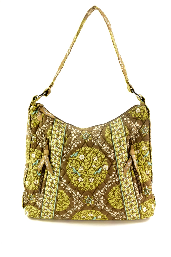 VERA BRADLEY multicolor green padded quilted handbag  a0a0f7e429f3a