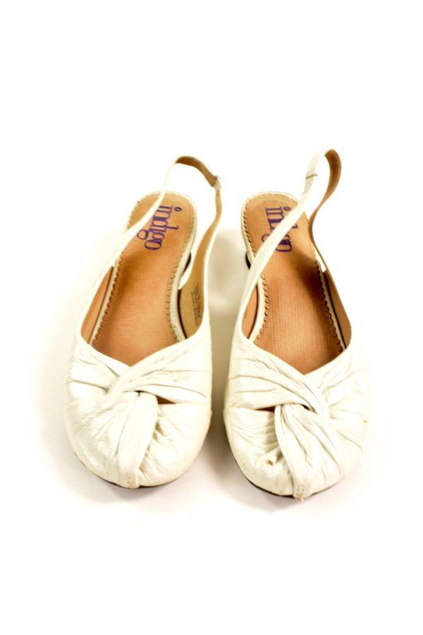 d5e27d3b44 INDIGO CLARKS ivory-tone leather medium heel shoes     Modaville